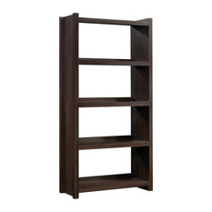 Sauder HomePlus 4 Shelf Bookcase in Espresso