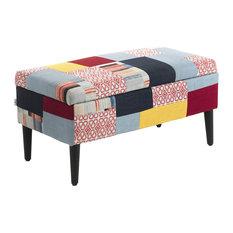 Kaleidos Upholstered Storage Bench