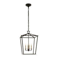 Lantern Pendant Lights | Houzz:Visual Comfort - Darlana Lantern, Aged Iron, Medium - Pendant Lighting,Lighting