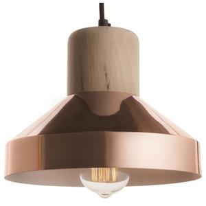 Luxe Copper Hat Thinkk Pendant Lamp, Beechwood