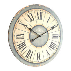 Antique Style Chateau Canet Wall Clock, Large