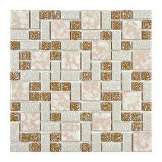 SomerTile University Porcelain Mosaic Floor/Wall Tile, Case of 10, Beige