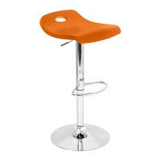 Orange Low Back Bar Stools And Counter Stools Houzz