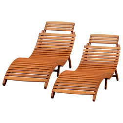 Craftsman Outdoor Chaise Lounges by GDFStudio
