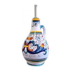 Italian Ceramic Olive Oil Bottle Ricco Sberna