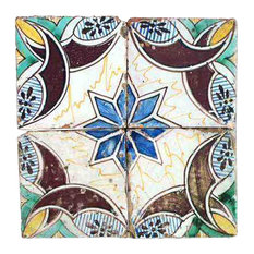 Repro Bold Majolica Tiles, Set of 4