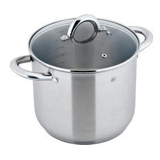 """9.5"""" Mirow Stock Pot in Stainless Steel, 8-Liter"""
