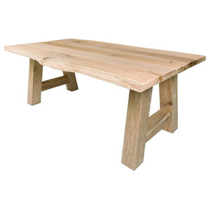 Forest Live Edge Dining Table, Unfinished, 100x280 Cm