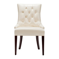 Safavieh Amanda 19 H Leather Tufted Chair Dining Chairs