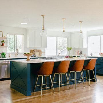 Split Level Open Kitchen