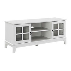 Modern Urban Living Media TV Stand Console Table Wood White