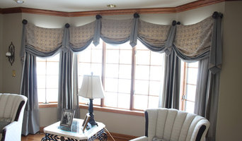 casual swag valances in formal living room