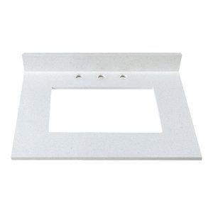 "Off-White Bathroom Granite Vanity Counter Top With Backsplash, 31"""
