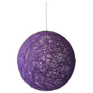 Sphere Modern Pendant Light, Violet, Medium