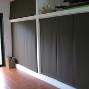 Otros usos del panel japonés: Puertas de Armario. Panel track as closet doors