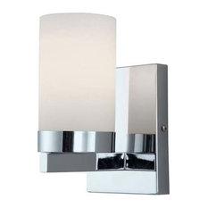 "Canarm IVL429A01 Milo 1 Light 4-3/4""W Bathroom Sconce - Chrome"