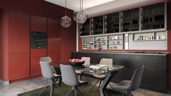 Cucina Laccata TATTO color rosso ruggine