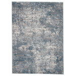 "Jaipur Living - Jaipur Living Violen Abstract Blue/Gray Area Rug, 8'10""x12' - Icy, cool tones and inviting texture define the stylish allure of the power-loomed Tresca collection. The dusty blue, silver, and white organic design of the Violen rug grounds modern spaces with rich, high-low pile and effortless versatility. Durable and performance built, this rug is ideal for high-traffic areas and frequently used rooms."