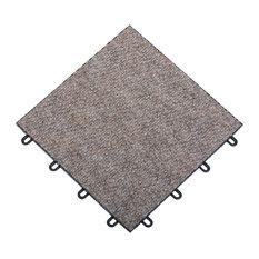 Carpetflex Tile, Tan, Box of 20
