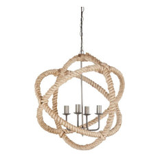 Mercana Coastal Chandelier, Beige
