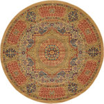 RugPal - Traditional Palazzo 8' Round Khaki Area Rug - The Palazzo is so very regal. Fashioning a look in your space that is synonymous with its royal name, the Palazzo collection embodies exquisite elements of antique design, creating elegance in any space. Palazzo exudes a sense of lavishness and a truly timeless charm. Enjoy the look of a royal residence without the hefty price tag.