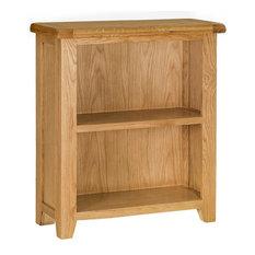 Padstow Painted Oak Low Bookcase, Oak