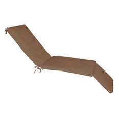 Steamer Lounge Sunbrella Fabric Outdoor Cushion, No Piping, Canvas Canvas