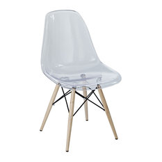 Pyramid Dining Side Chair, Clear