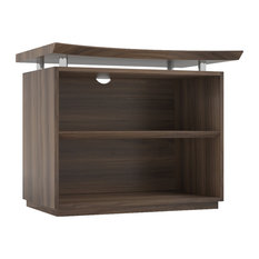 Mayline Sterling 2 Shelf Bookcase In Textured Brown Finish STEB2TBS