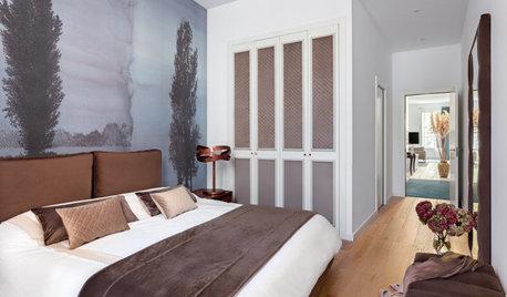 El dormitorio acogedor y contemporáneo de un piso en Barcelona