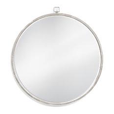 Bennet Wall Mirror, Silver Leaf
