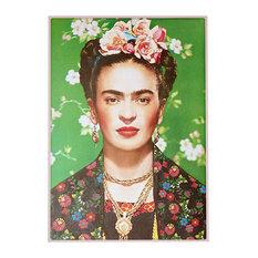 """Frida Kahlo"" Green Poster, 70x50 cm"