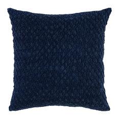 """Julie Textured Linen 22"""" Throw Pillow, Indigo by Kosas Home"""