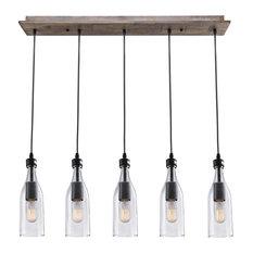 LNC   5 Light Glass Mason Jar Fixture   Kitchen Island Lighting