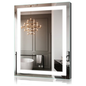 "28""x36"" LED Illuminated Bathroom Lighted Backlit Mirror With Dimmable Switch"