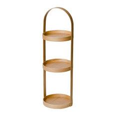 Coppice - Mezza Natural Oak Three Tray Cylinder Rack - Shower Caddies