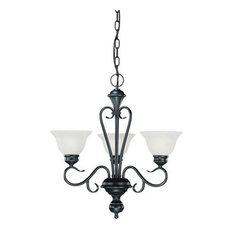 Millennium Lighting 673-BK Devonshire Chandelier In Black
