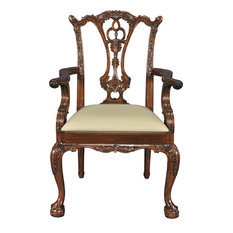 Arm Chair Chippendale Ball And Claw Feet Foliate Carving Acanthus