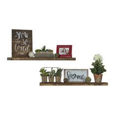 delhutson designs true floating shelves set of 2 dark walnut