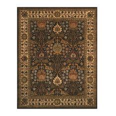 eorc handtufted wool morris rug brown