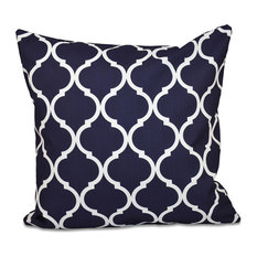 "French Quarter Geometric Print Pillow, Bewitching, 26""x26"""