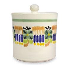 Novica Acapulco Majolica Ceramic Cookie Jar