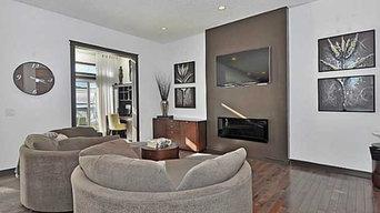 Interior design with custom art