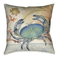 Oceana Crab Decorative Pillow