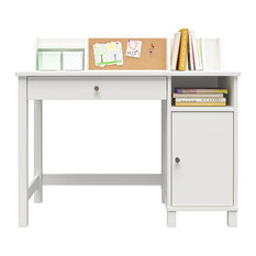 Leah Kids Desk With Chair, White