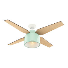 "Hunter Fan Company 52"" Cranbrook Mint Ceiling Fan With Light and Remote"