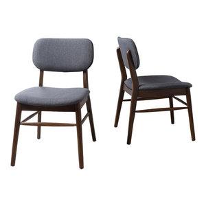 Gdf Studio Issaic Mid Century Design Wood Dining Chairs