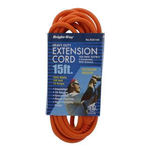 15ft GE JASHEP50369 1-Outlet Indoor//Outdoor Grounded Workshop Extension Cord
