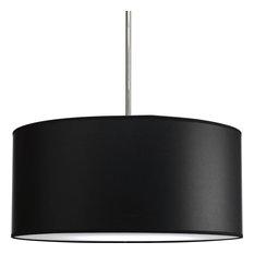 50 most popular black drum pendant lights for 2018 houzz progress lighting 22 drum shade modular pendant system black parchment pendant lighting aloadofball Images