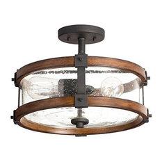 Wood Flush Mount Ceiling Lighting Houzz